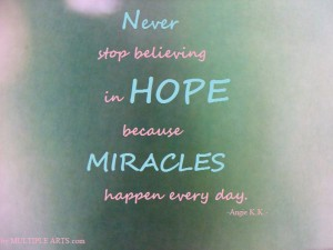hope, miracles