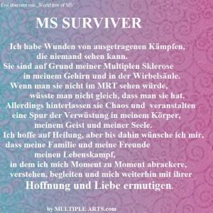text ms surviver übersetzt