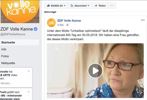 zdf volle kanne 624x424 - Hier ist er: Mein Beitrag bei ZDF / Volle Kanne zum Welt-MS-Tag :)