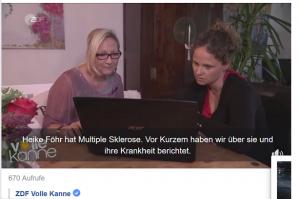 vk2 300x199 - Hier ist er: der neue ZDF-Volle-Kanne-Beitrag zu den UNSICHTBAREN Symptomen mit einem Interview von mir