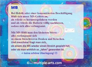 hektik...stress...lahm .... 300x218 - Multiple Sklerose: Reine Nervensache - Warum wir so schwache Nerven haben