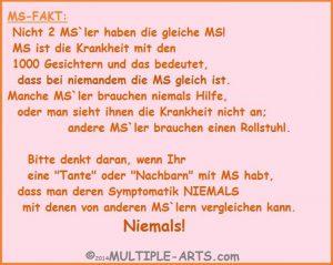 """ms fakt 300x239 - *Meine MS und ich haben """"Silber-Hochzeit""""!"""