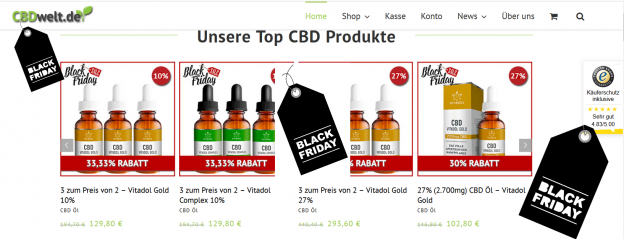 black friday cbd 624x239 - CBD - Black Friday 33,33% bei Cbdwelt