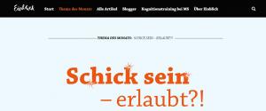 """schick 300x125 - Der neue Themenmonat von Einblick ist online: """"Schick, schick!"""""""