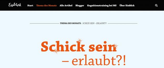 """schick 624x259 - Der neue Themenmonat von Einblick ist online: """"Schick, schick!"""""""