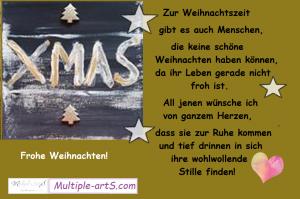 Zur Weihnachtszeit gibt es auch Menschen 300x199 - FROHE WEIHNACHTEN