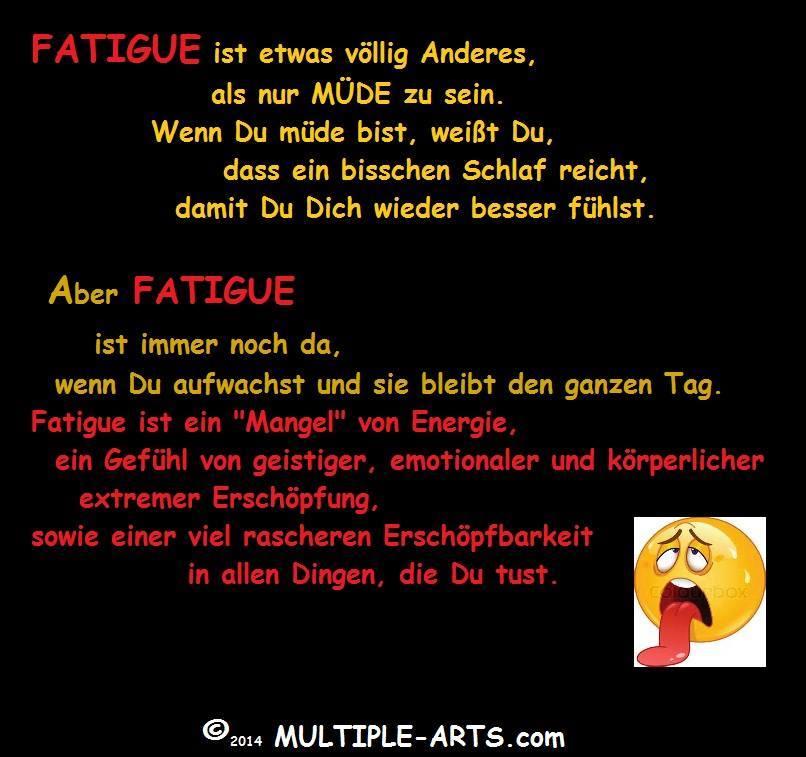fatigue mangel an energie - FATIGUE Lassitude/Mattigkeit: Teufelspaar
