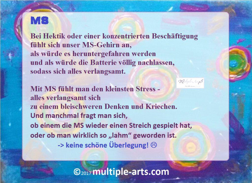 hektik...stress...lahm .... 1 1024x744 - Ein Schwerkranker,  eine zickende MS und das Leben