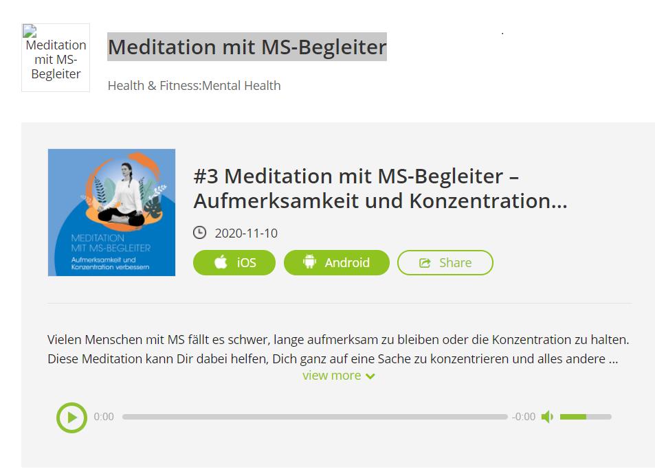 meditation ms begleiter 1 - Meditation mit MS-Begleiter